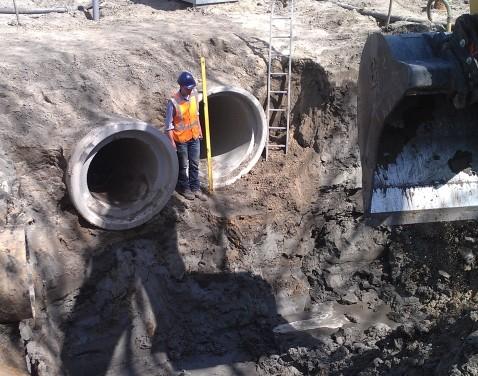 Reconstructie dubbel riool Laarbeek
